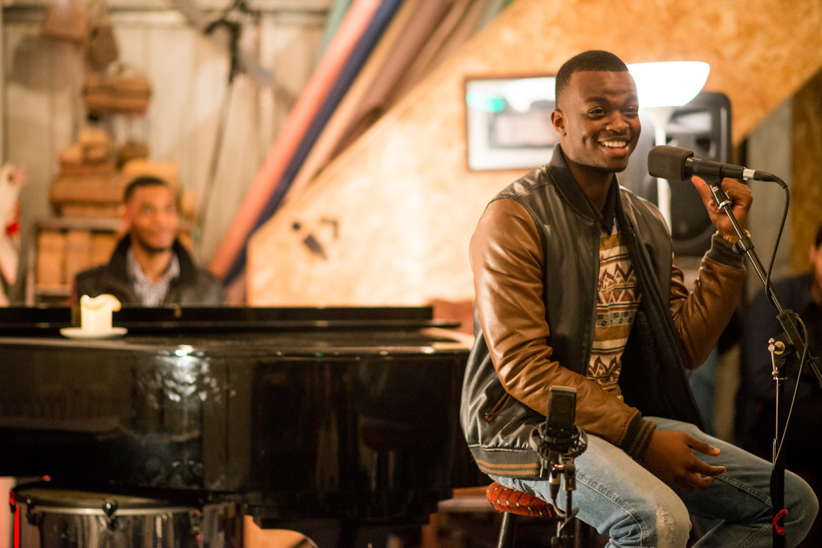 The incredible George The Poet, whose spoken word, backed by improv piano told of his escape from gangs as a teenager in London, to studying at Cambridge University, and a message of hope and hard work for everyone else