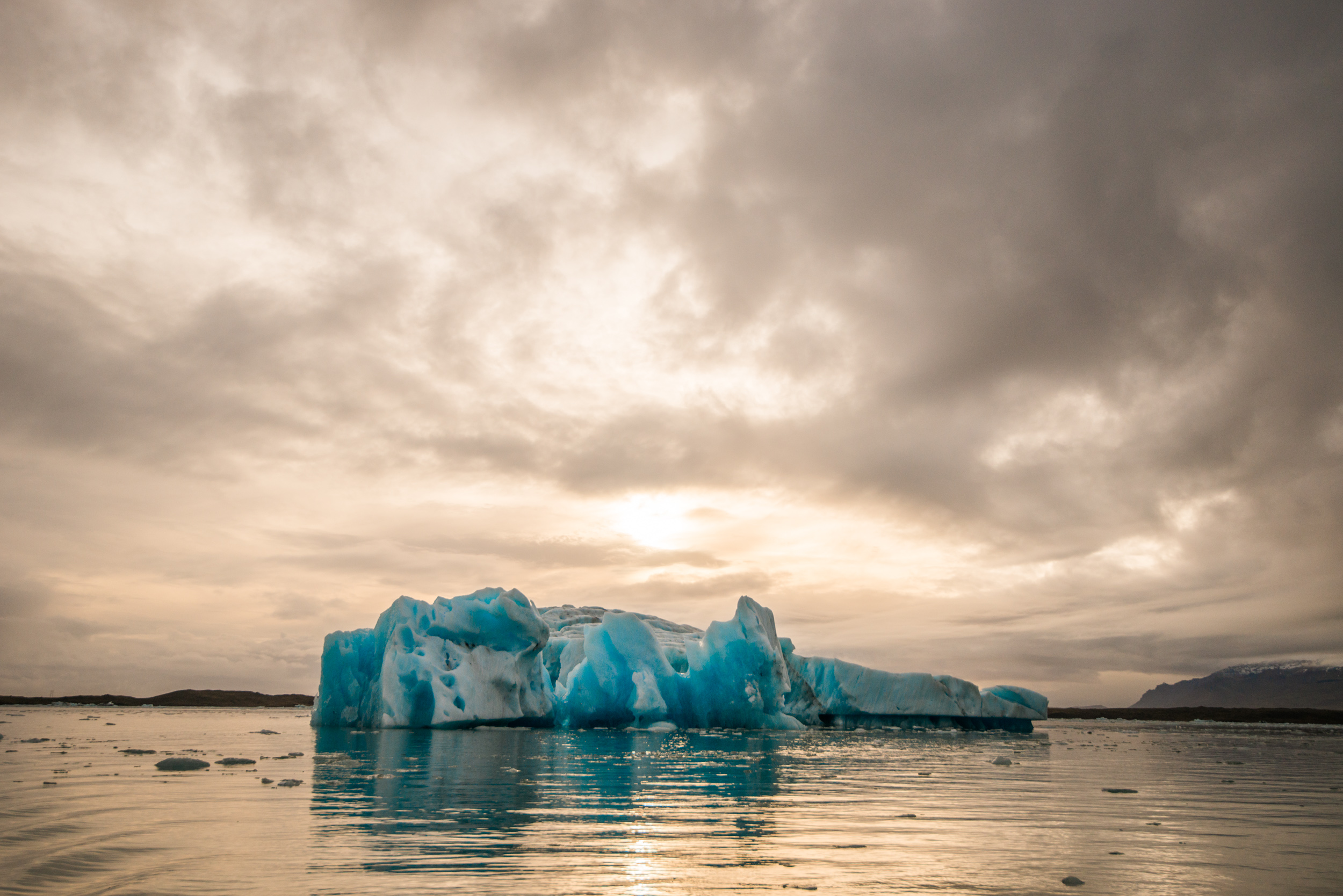 """For 'Die Another Day', the film crew dammed the sea off from the huge lake that these icebergs fall from a glacier into, removing the salt content. The entire lake froze within two weeks, and the incredible car chase scenes were shot on the frozen lake punctuated by these icebergs.  """"Only God and Hollywood can make miracles..."""""""