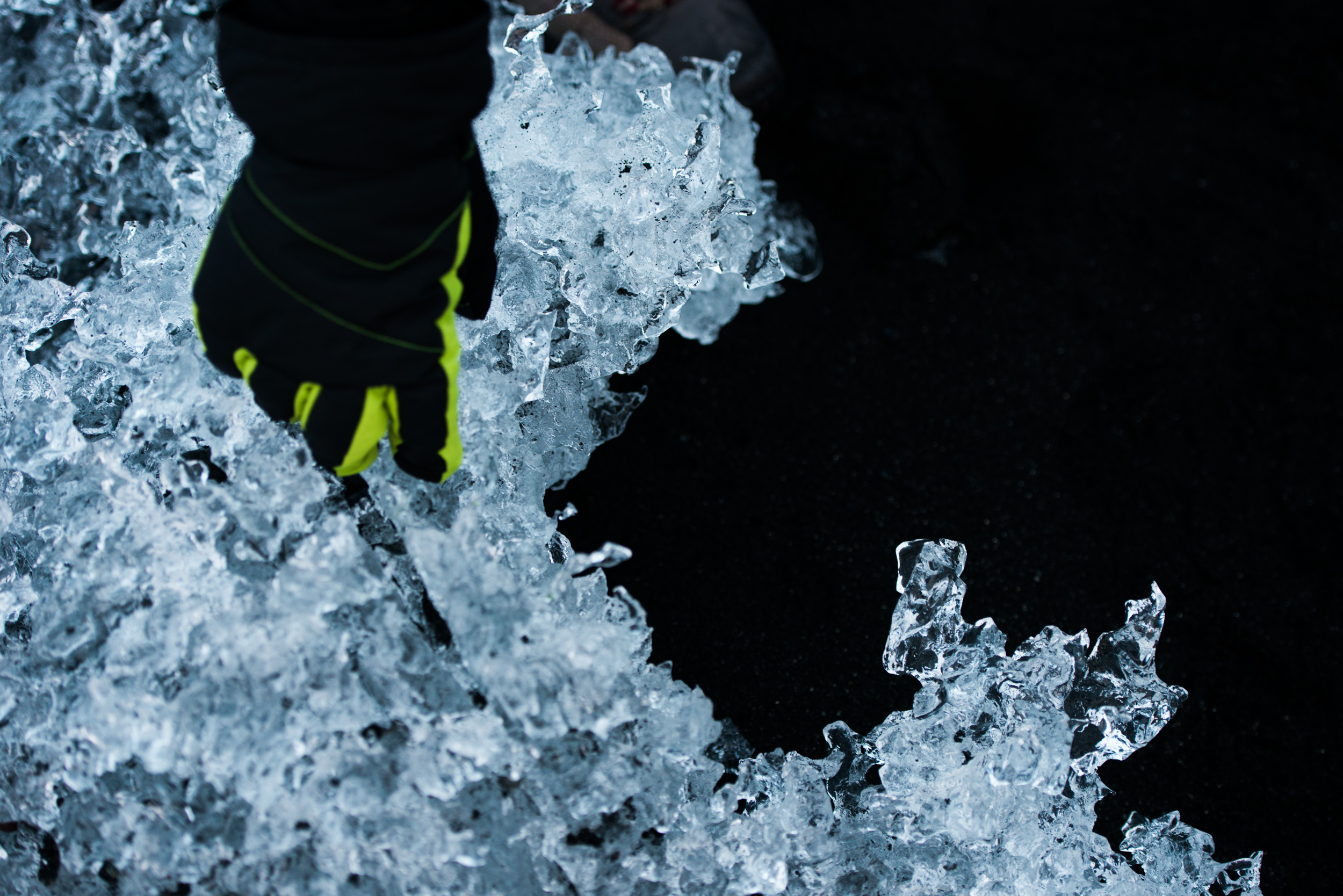 Finding the perfect chunk of glacier to cool our gin and tonics that night...