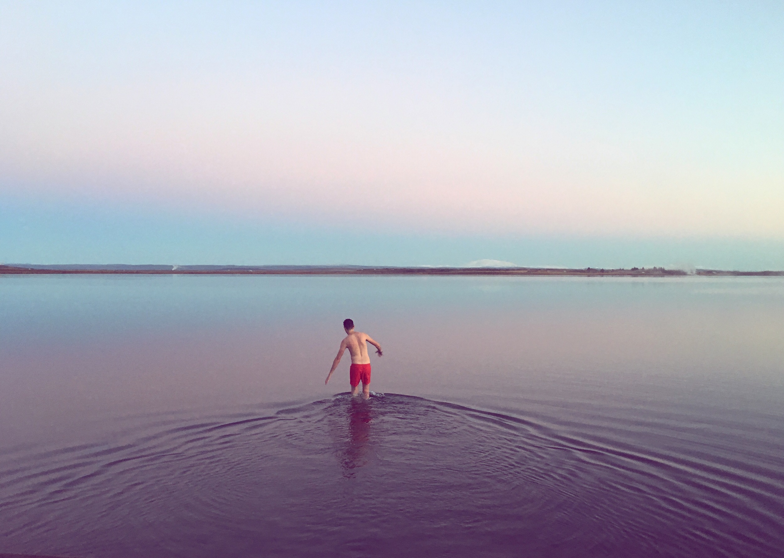 iphone snap: not a holiday without a dip in a lake or river!