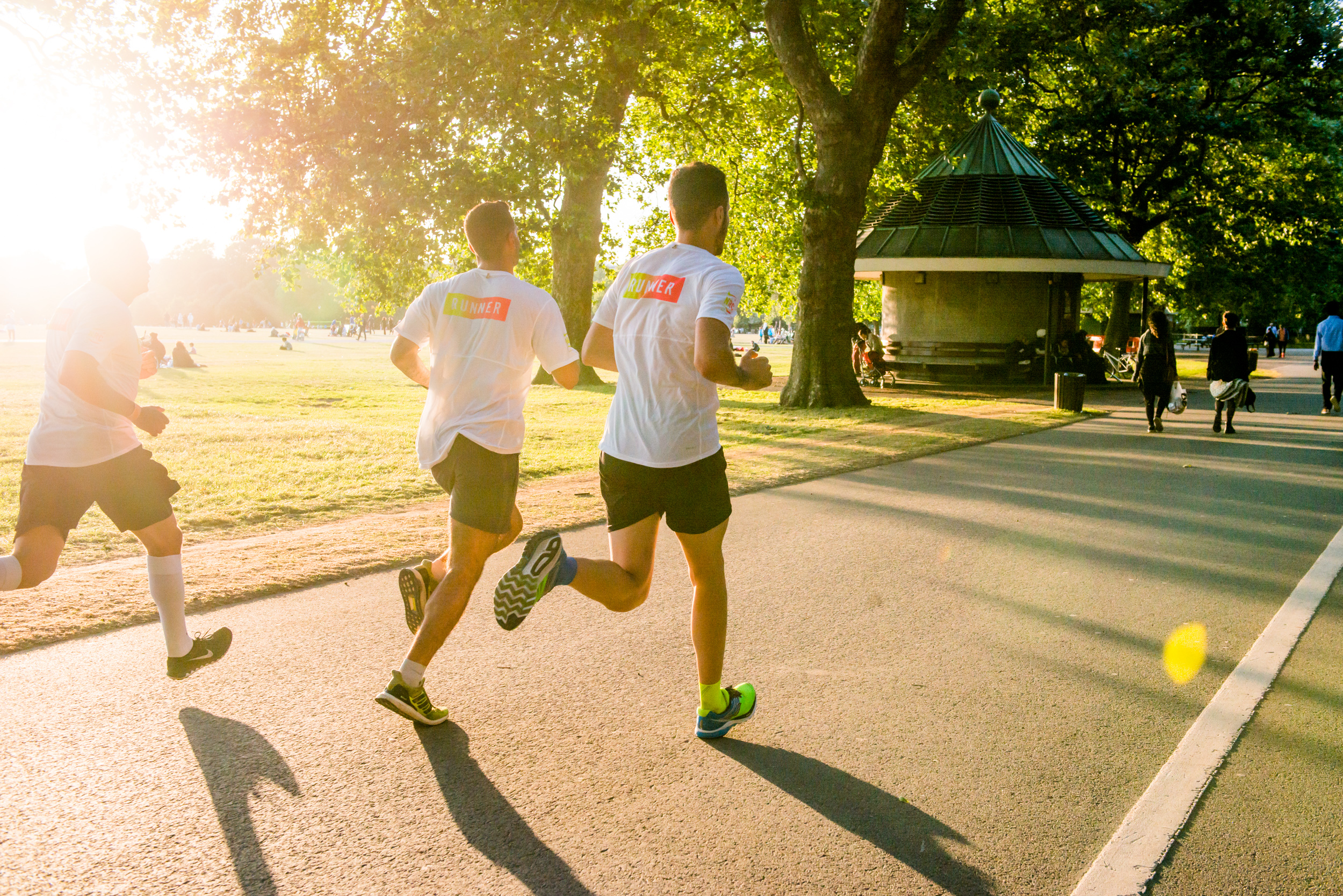 Went for a run, with two cameras hanging from me, on a stunning evening around Hyde Park, for Nike