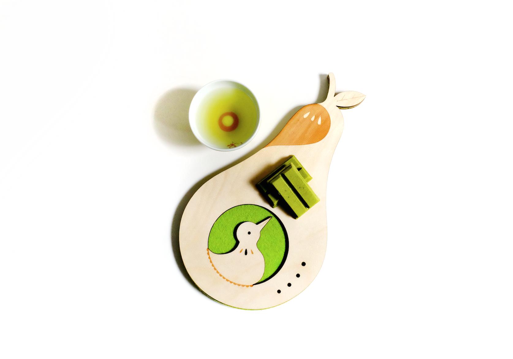 Pear Bird Coaster tray