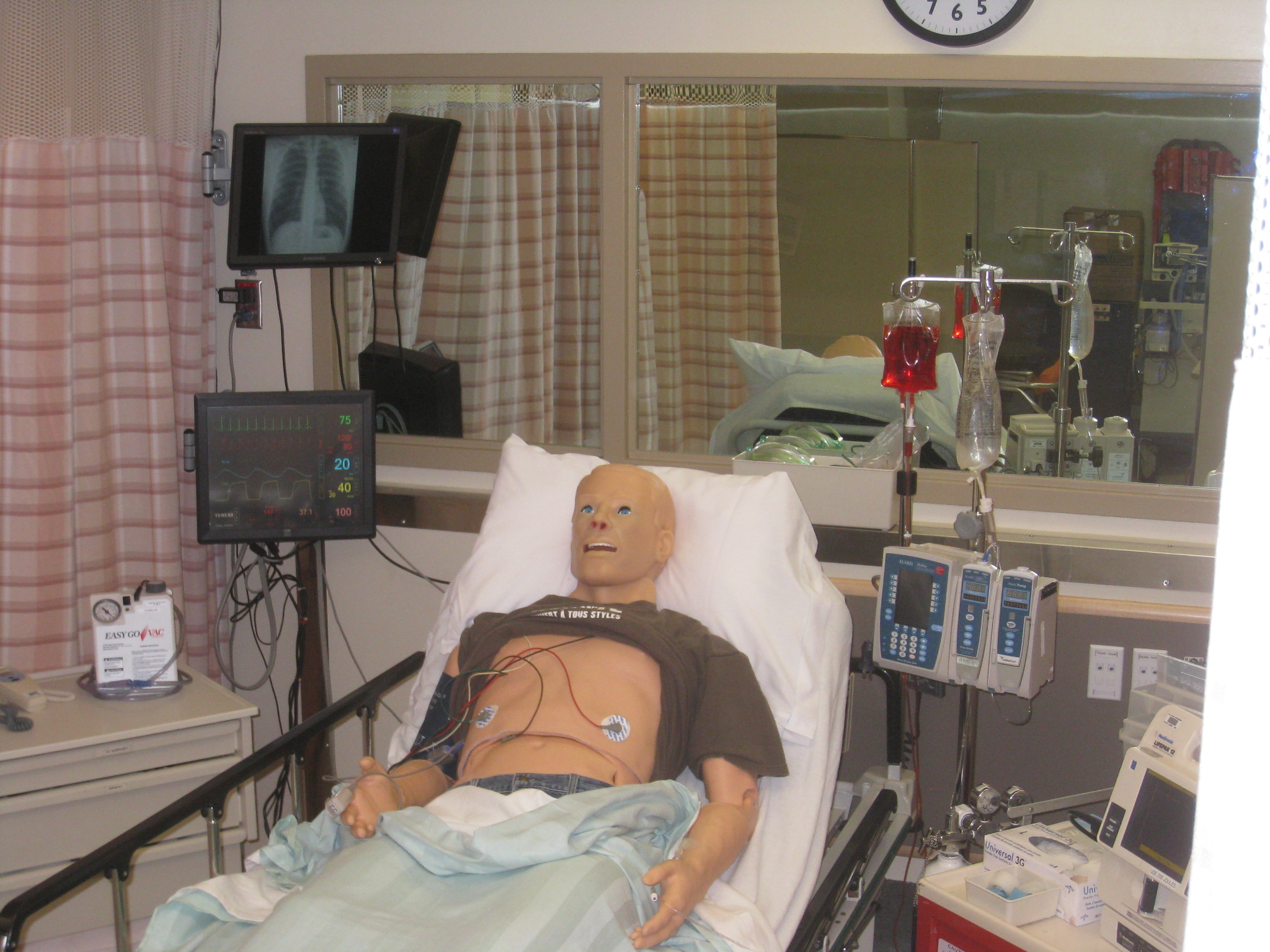 Our patient area... with visual stimuli and vitals