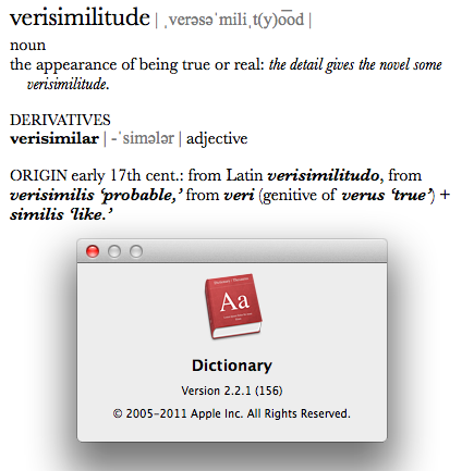 As seen in The Apple Dictionary