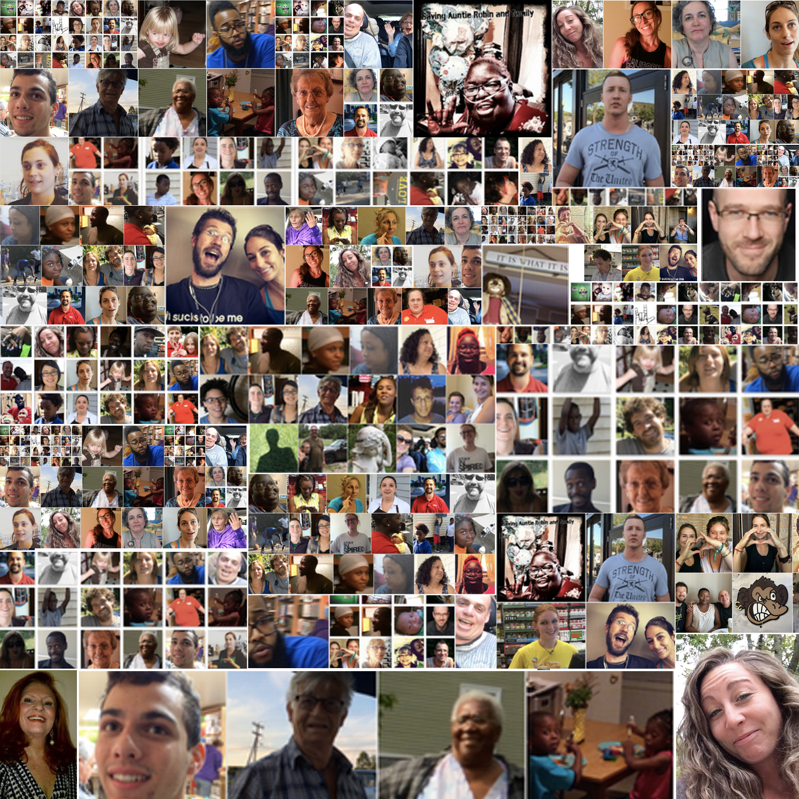 Some faces of the many people that have impacted Building Beyond dot Me