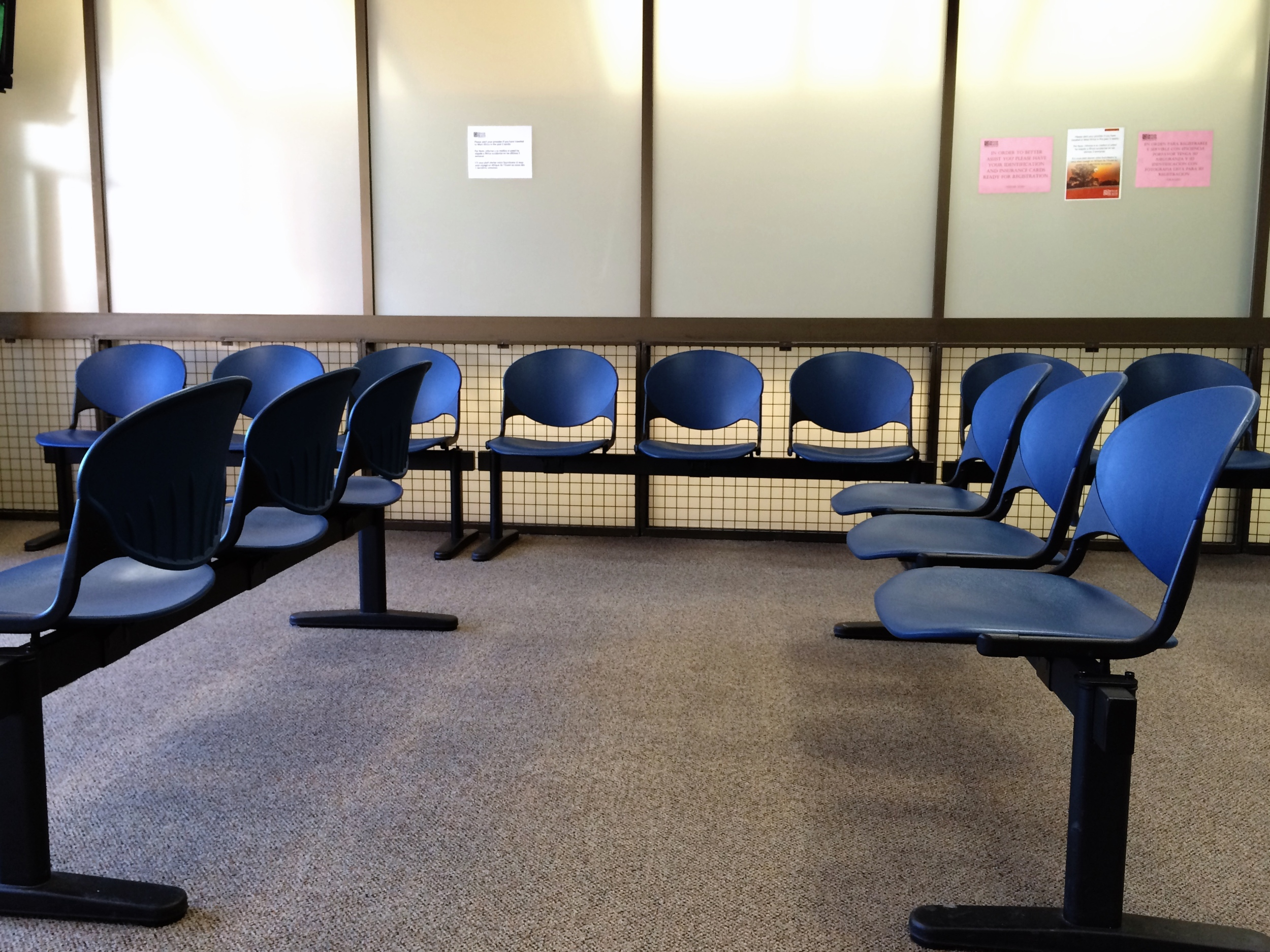Waiting room at Denver Health