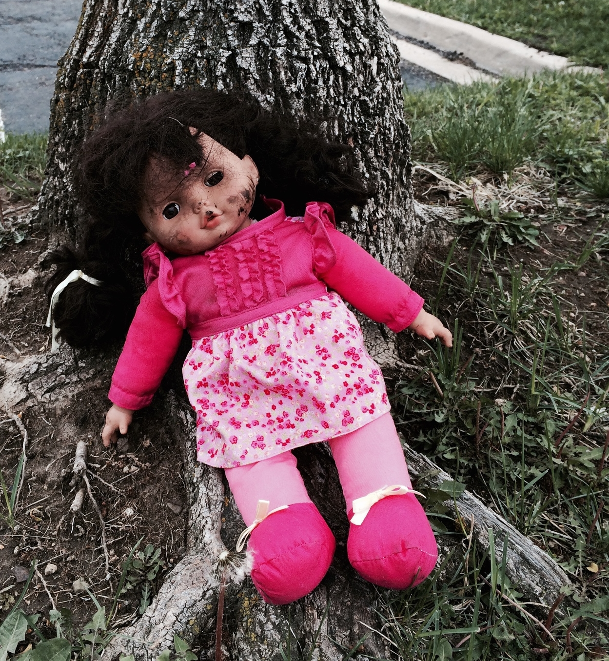 Everyone has a bad day from time to time. A doll outside the drug testing office.