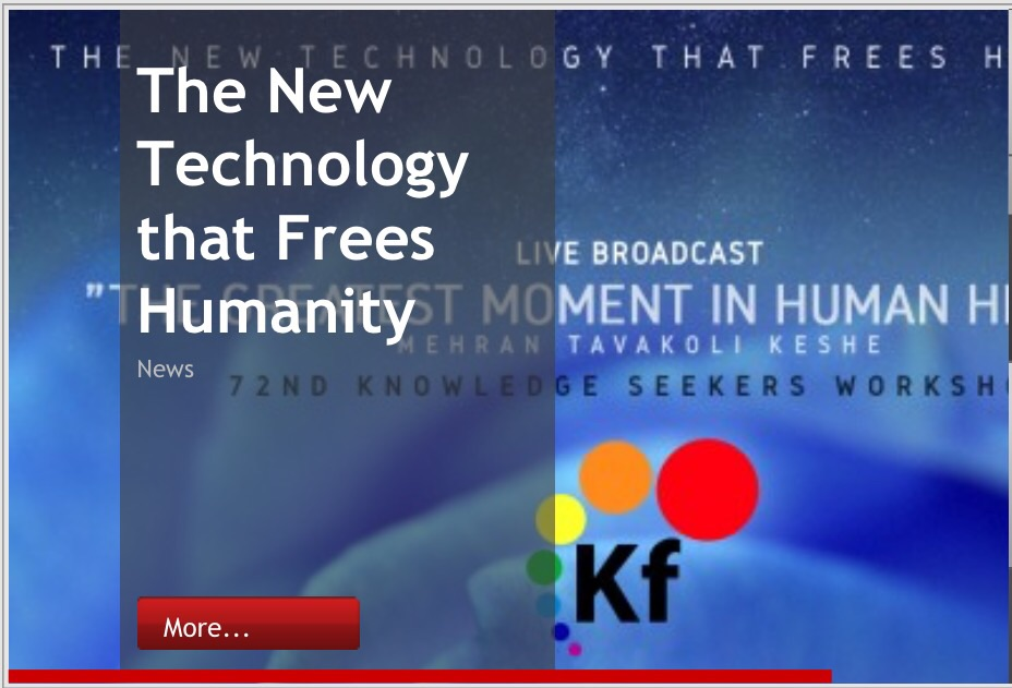 """The new technology that frees humanity""   keshefoundation.org"