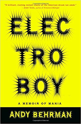 From Amazon: Electroboy is an emotionally frenzied memoir that reveals with kaleidoscopic intensity the terrifying world of manic depression.  Click Here for More Info