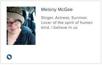 Singer. Actress. Survivor. Lover of the spirit of human kind. I believe in us.