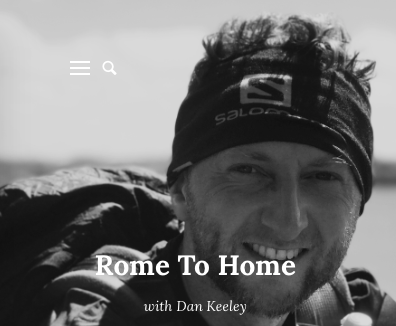 Dan is running from Rome to London to raise awareness of men's mental health