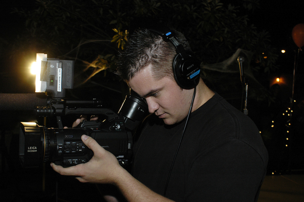 Operating a Panasonic DVC-80 durring my college days.