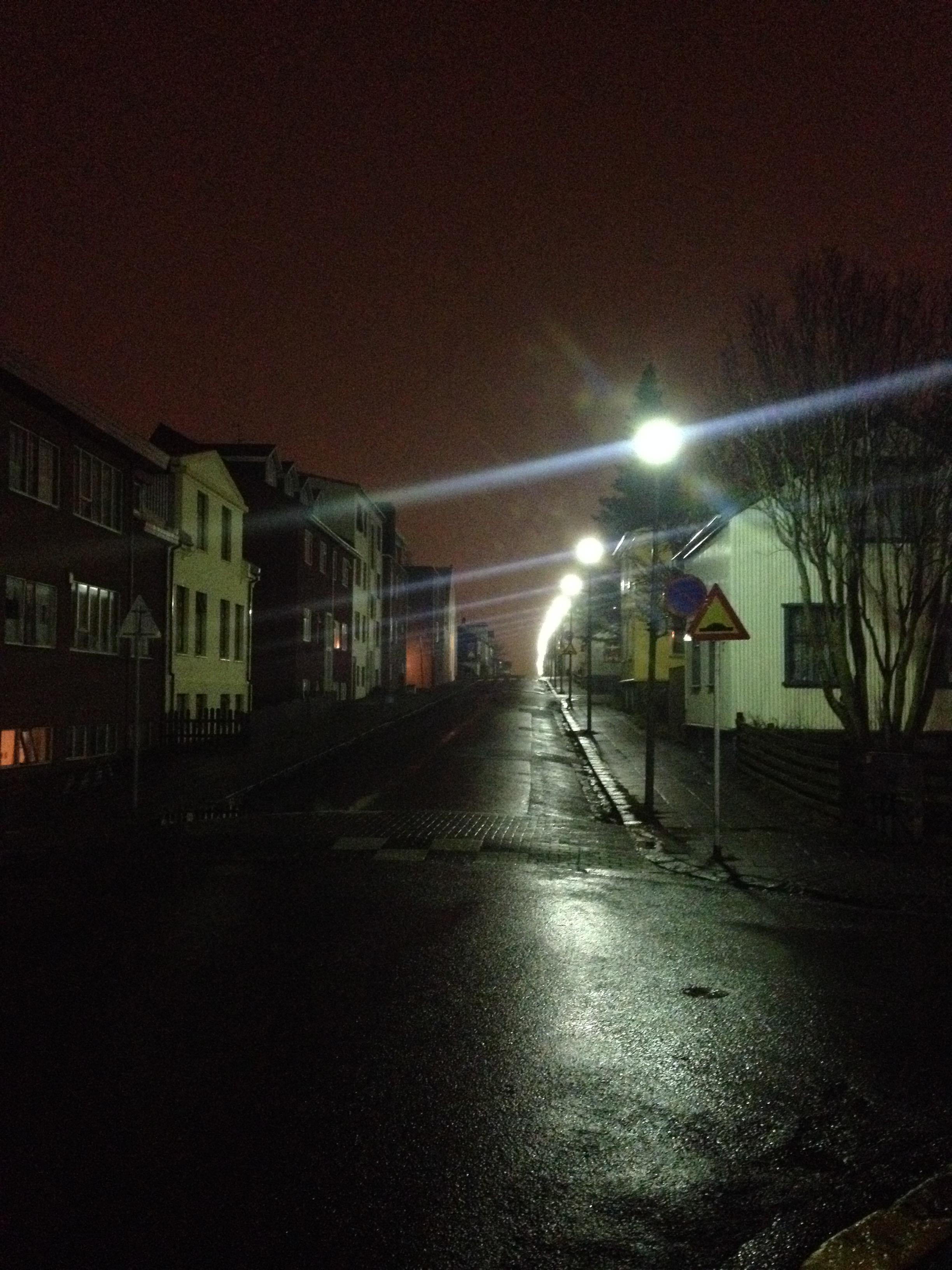 Reykjavik, by night
