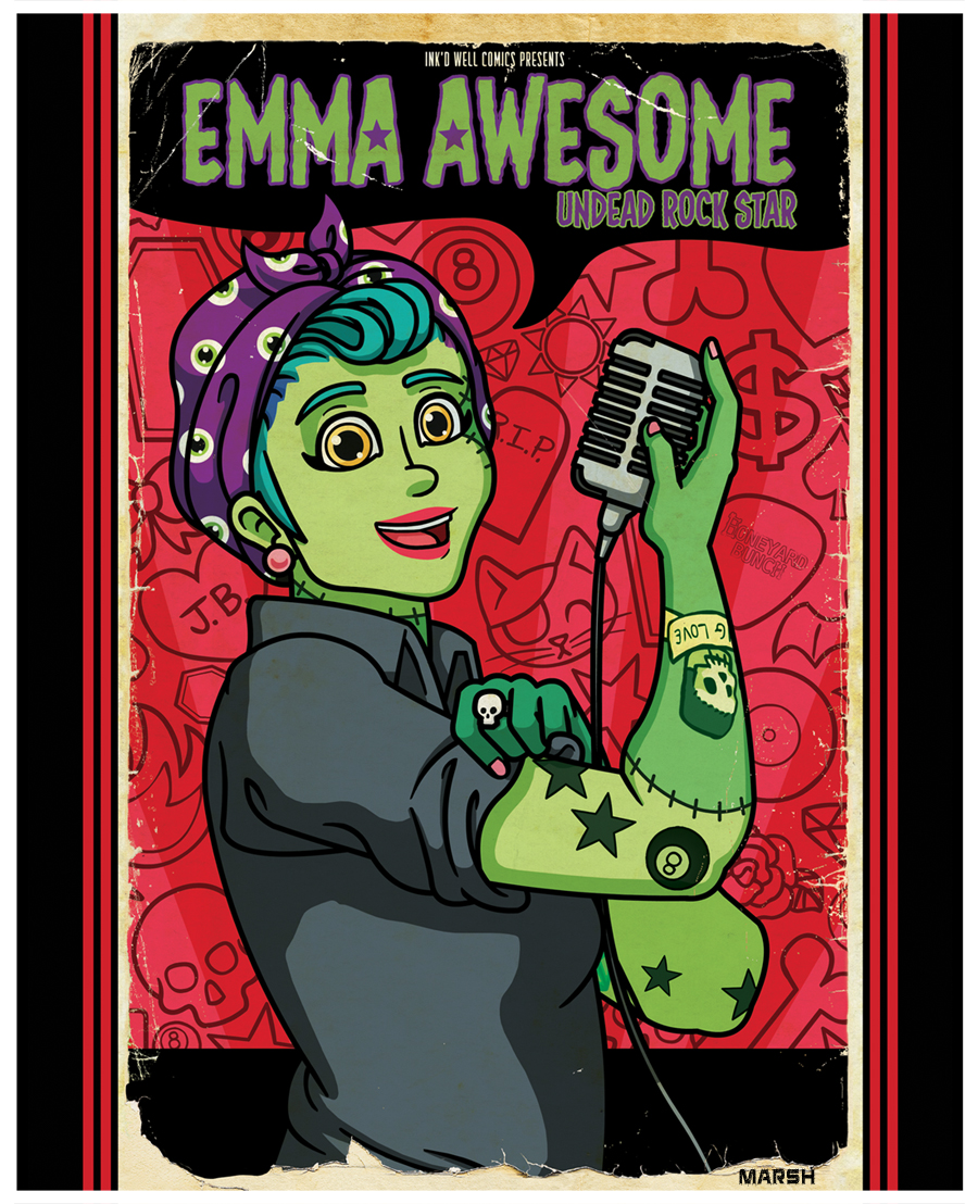 Cover -  Emma Awesome: Undead Rockstar