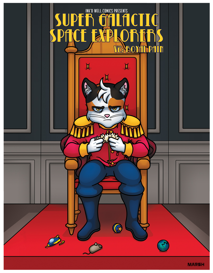 Cover to Volume 2 -  Super Galactic Space Explorers