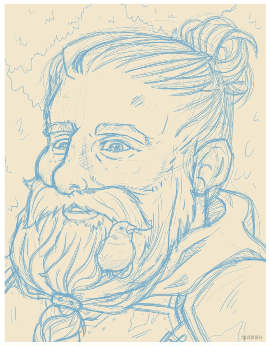 Brindamour Beard -  D&D Portrait
