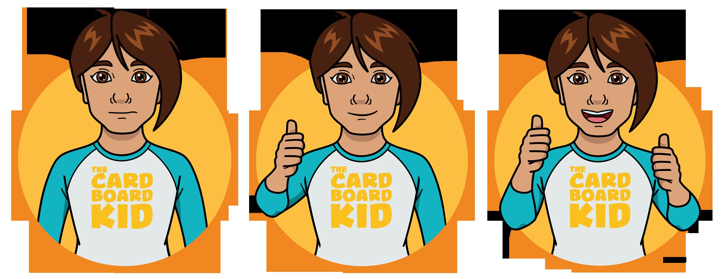 Ratings illustrations -  The Cardboard Kid