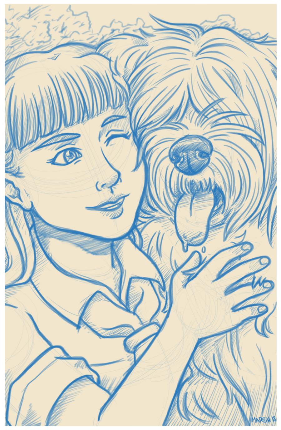 Relena & Dog Friend
