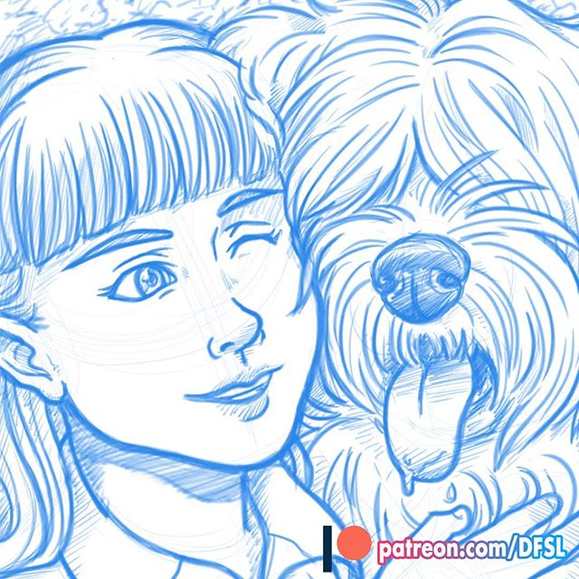 This month on Patreon I'm revisiting a sketch I did of Relena Darlian and her dog friend. I ended up doing quite a few touch ups!  Sign up for either of our tiers are you'll get to see the before and after of the sketch! 🐶  Link in bio!  #patreon #sketch #gundamwing #wip #anime #sheepdog