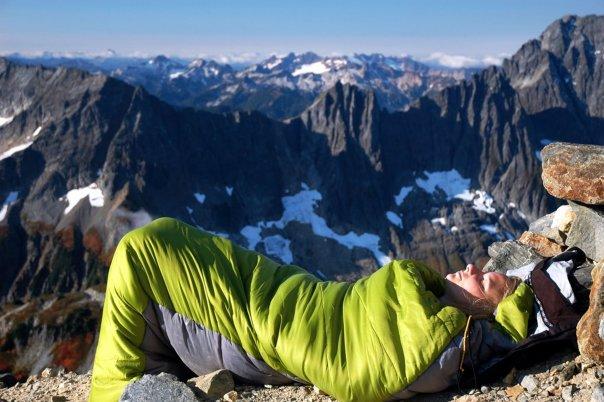 I like to sleep on mountains