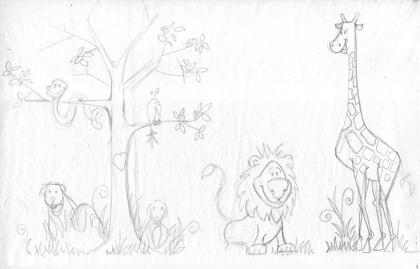 Jungle Mural Sketch