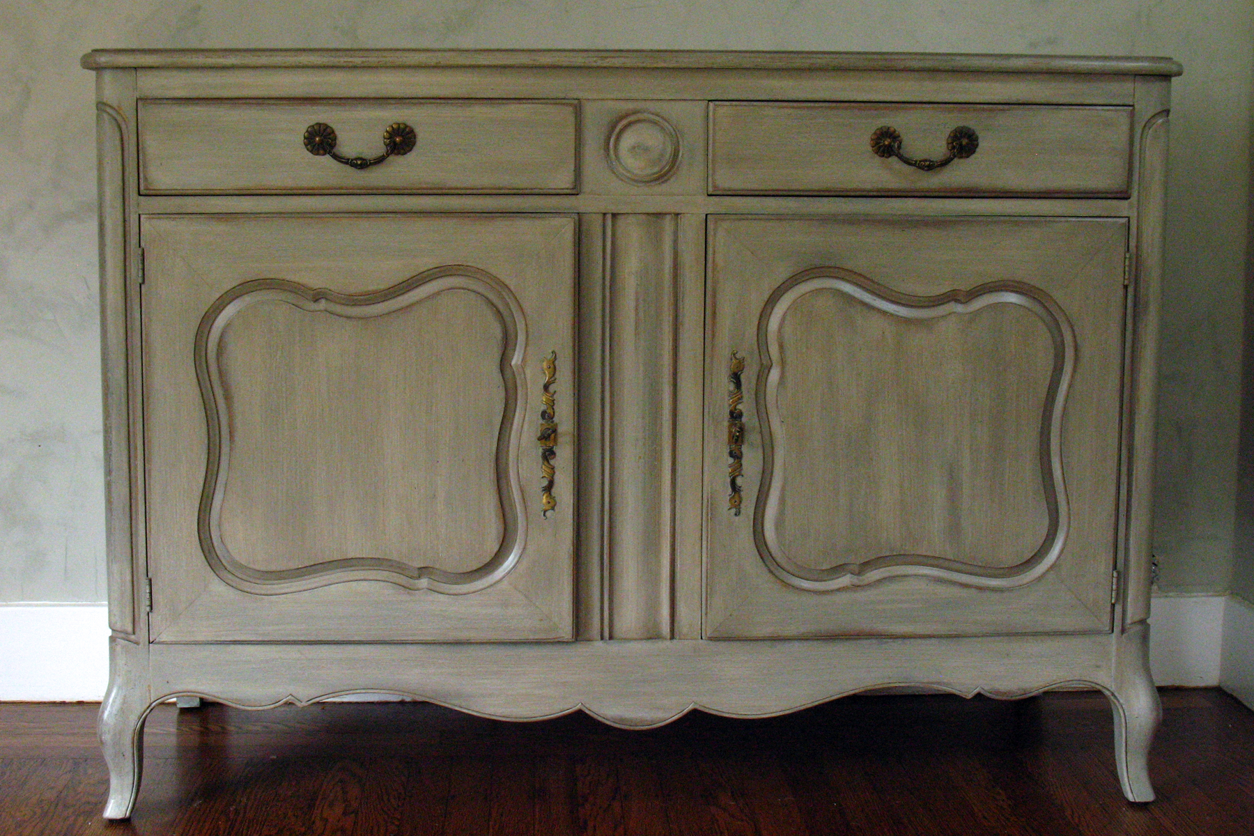 FRENCH BUFFET WITH ANTIQUE FINISH