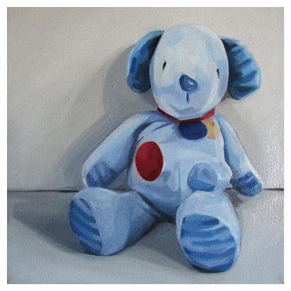 Blue dog 10x10