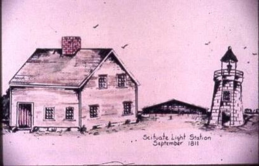 Stacey Hendrickson's rendering of the Light and Cottage in their original form.