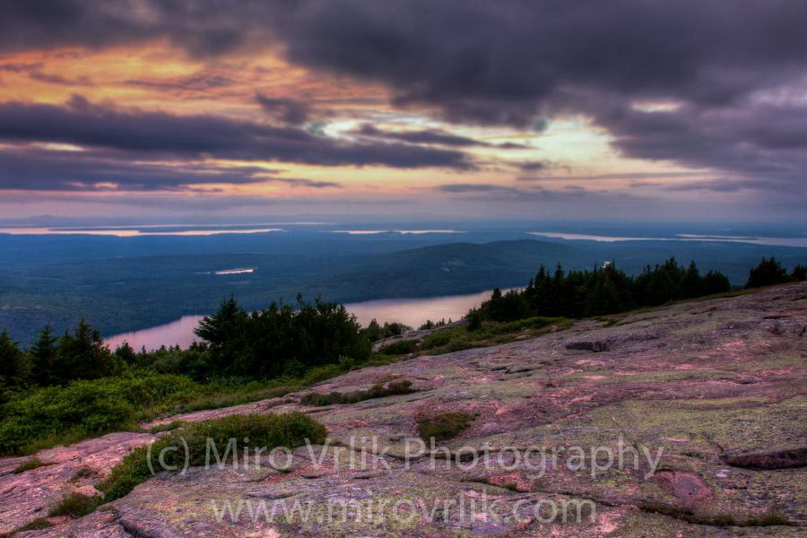 Cadilac Mountain sunset