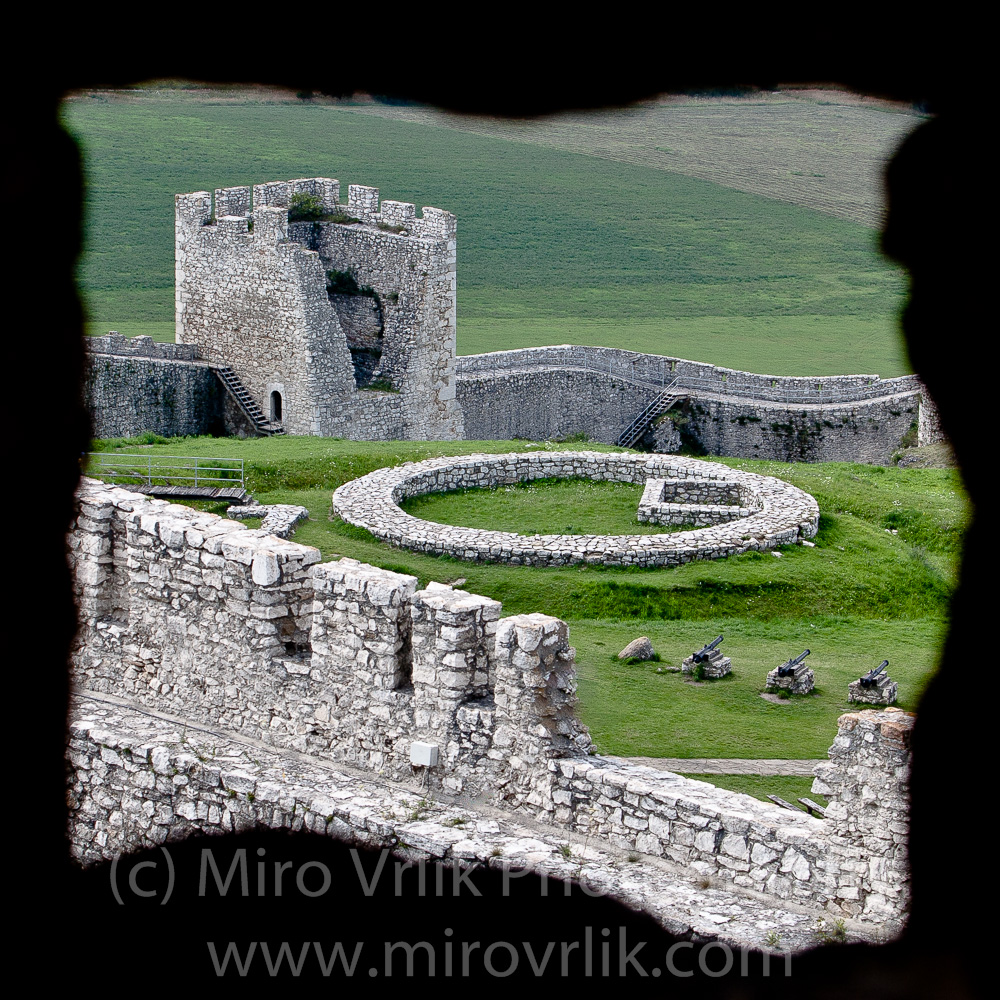 Spis Castle window