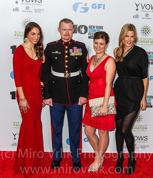 Guest,Staff Sergeant Danie Ridgewayl, Jenna Ridgeway and Mary Alice Stephenson
