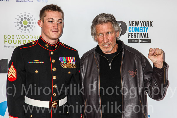 Sergeant Evan Stratton and Musician Roger Waters
