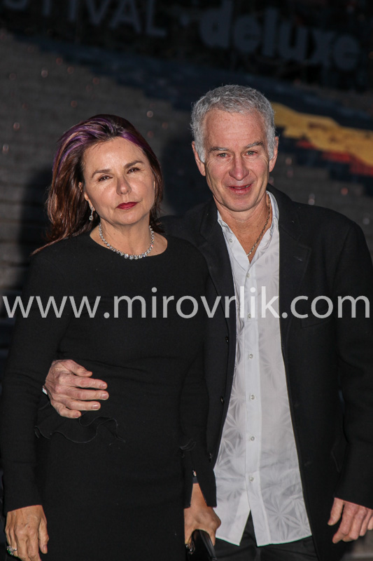 NEW YORK, NY - APRIL 23: John McEnroe and Patty Smyth  attend the Vanity Fair Party during the 2014 Tribeca Film Festival at the State Supreme Courthouse on April 23, 2014 in New York City.