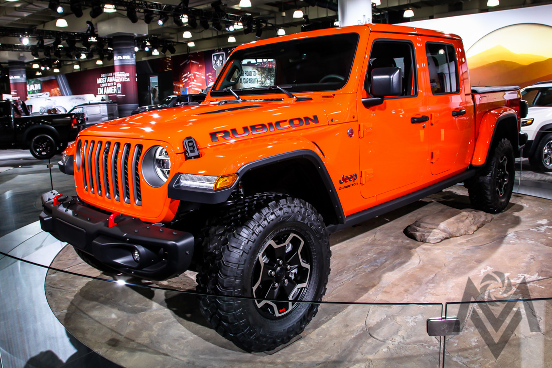NEW YORK, NY, USA - APRIL 17,2019: Jeep Gladiator 2020 at the New York International Auto Show 2019, at the Jacob Javits Center. This was Press Preview Day One of NYIAS