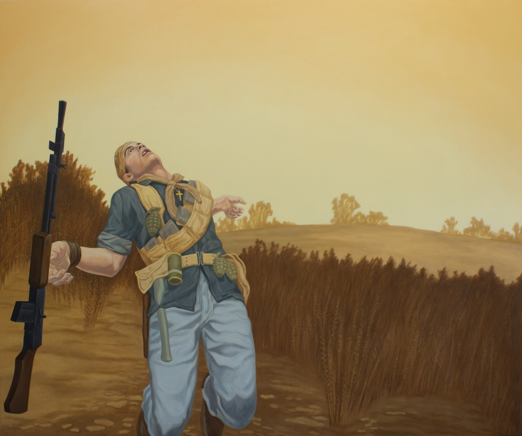 "Death of a Loyalist, 2012, oil on canvas over panel, 50""x60"""