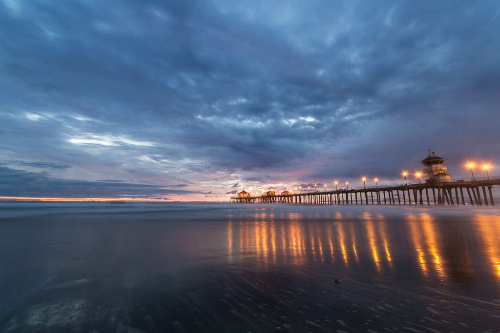 Blue Hour Huntington Beach.