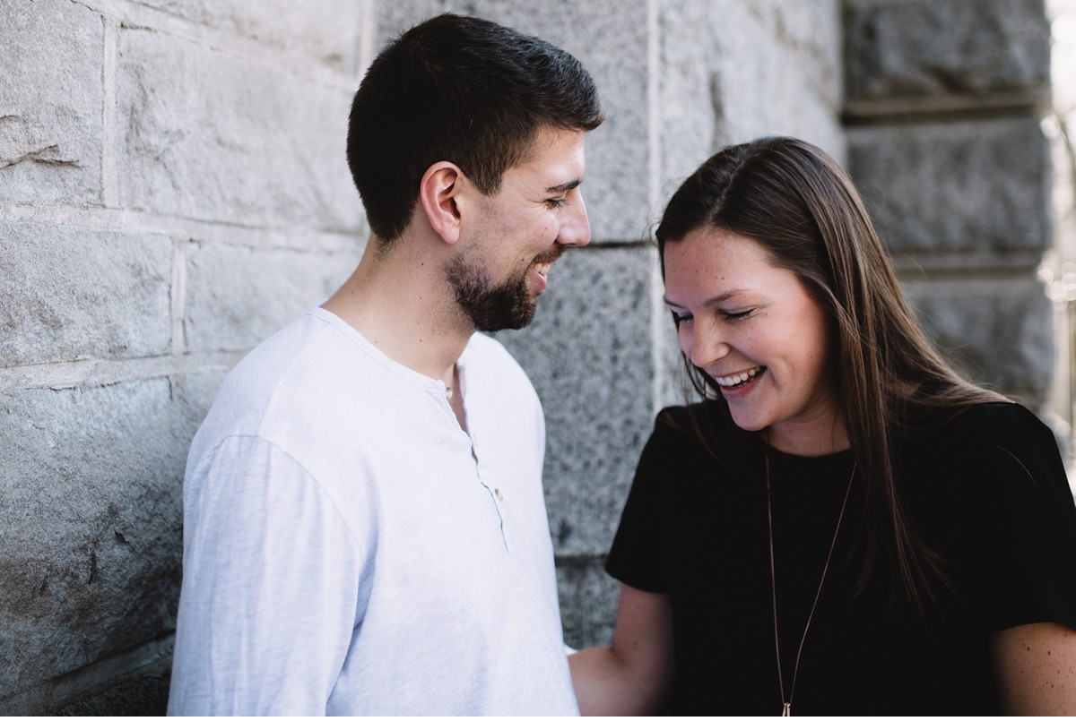 Laughing during NYC engagement session.