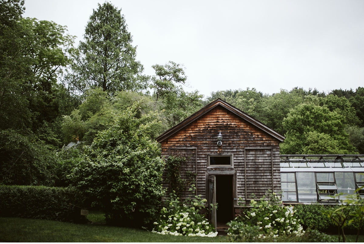 Willowwood Arboretum garden shed and greenhouse