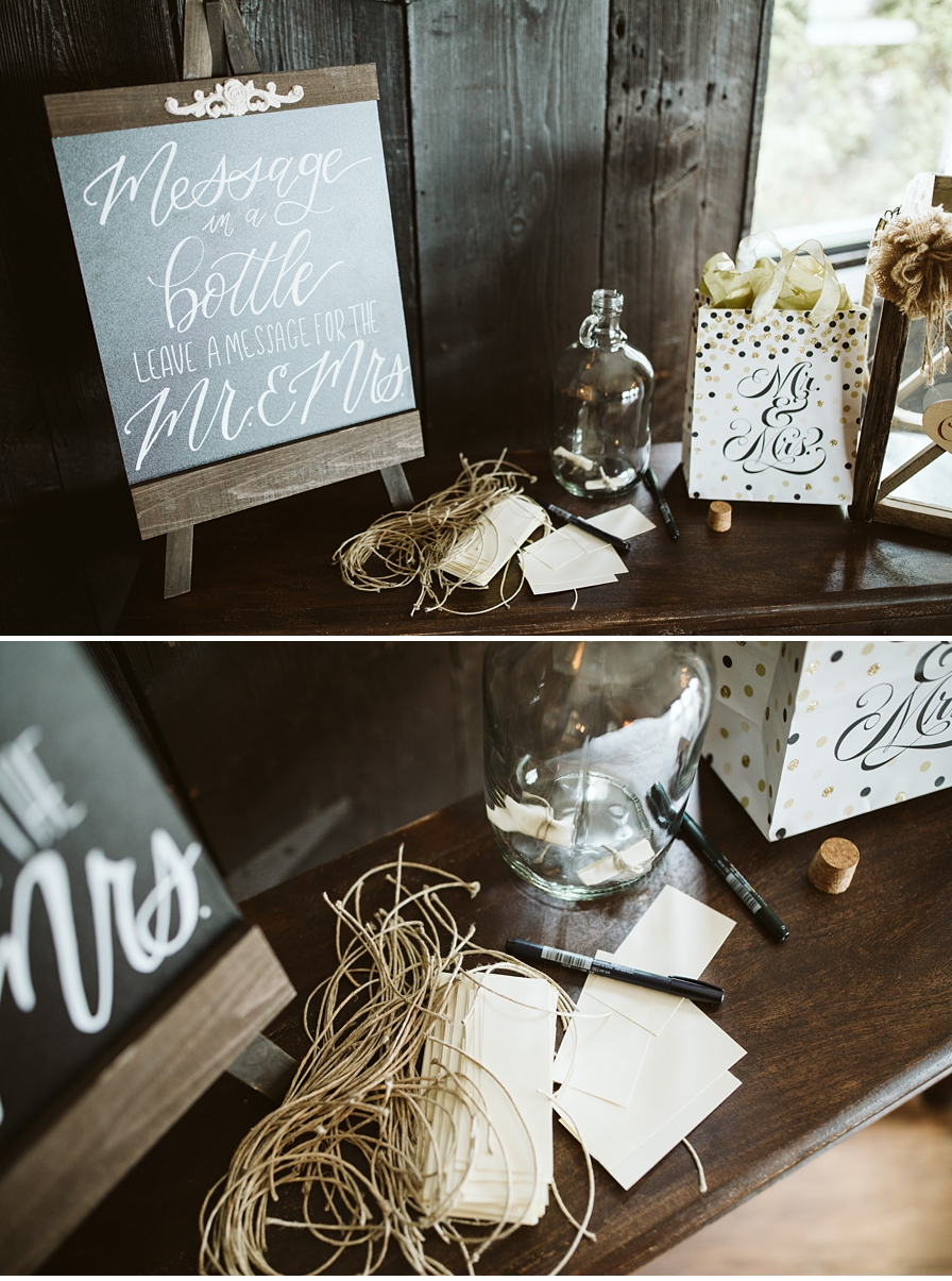 Guest book and decorations at Oceanview of Nahant Wedding in Massachusetts