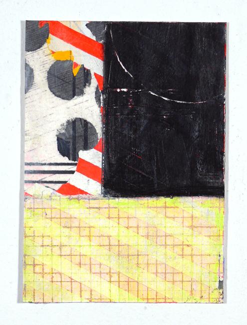 """NY12#05,7"""" x 5"""",mixed media on paper,2012,SOLD"""
