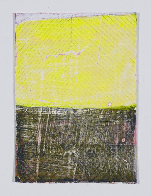 """NY12#06,7"""" x 5"""",mixed media on paper,2012 SOLD"""