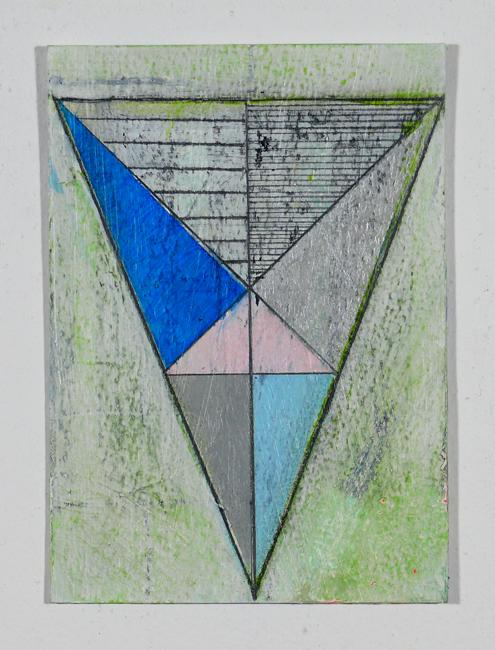 """NY12#08,7"""" x 5"""",mixed media on paper,2012,SOLD"""