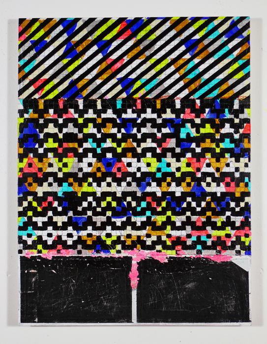 "NY12#10,mixed media on panel,16"" x 12"",2012 SOLD  limited edition print at Art.com"