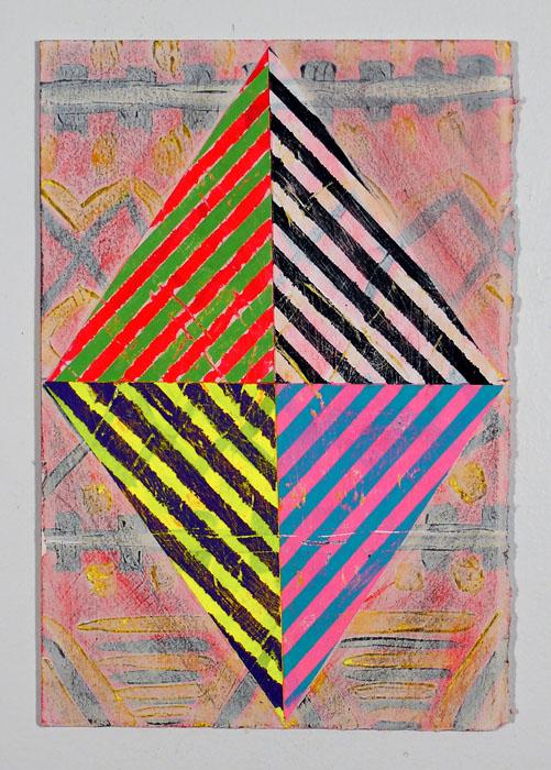 """NY12#18,11"""" X 7.5"""",mixed media on paper,2012  available at Etsy"""