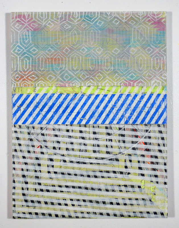 """NY12#19,mixed media on panel,16"""" x 12"""",2012  available at  Jen Bekman Gallery   pillows at neon vintage"""