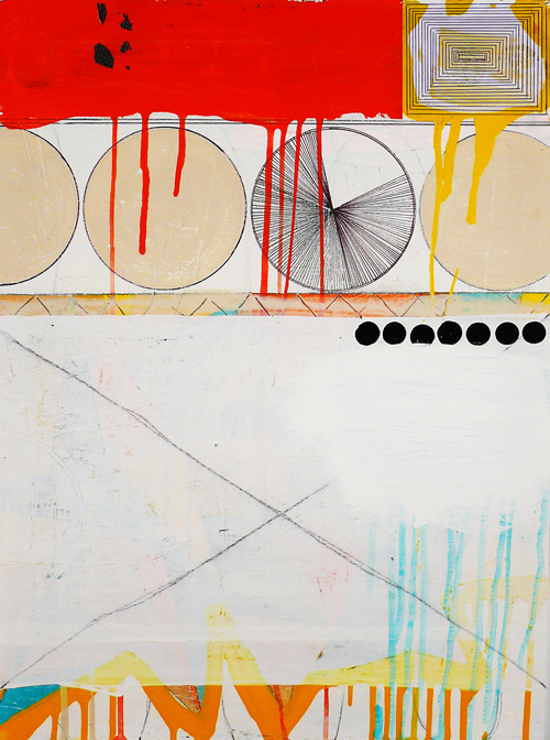 """NY11#04,23"""" x 17"""",mixed media on paper, 2011  available at Jen Bekman Gallery"""