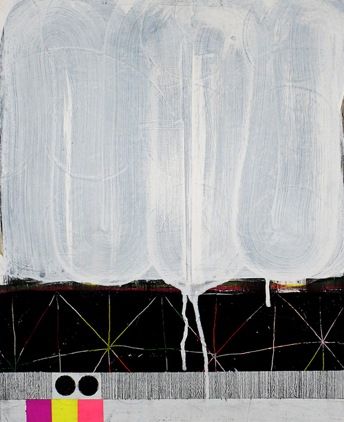 """N Y11#05, 19.5"""" x 16"""""""",mixed media on paper, 2011  available at Jen Bekman Gallery"""