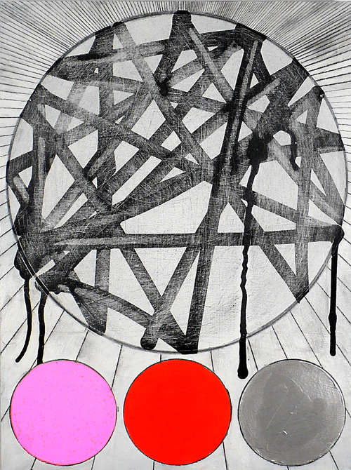 "NY11#06, 16"" X 12"", mixed media on panel, 2011  available at Jen Bekman Gallery   prints at Art.com"