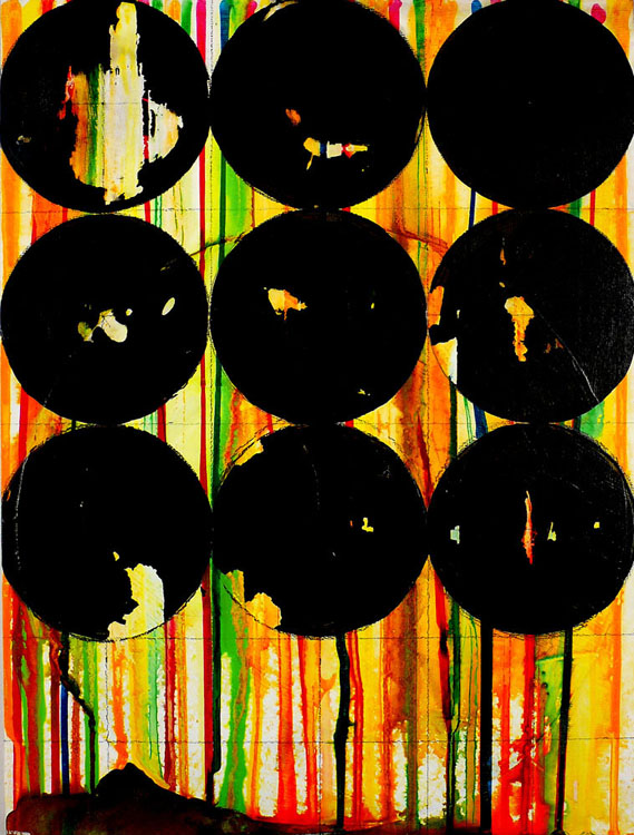 "NY11#09, 16"" X 12"", mixed media on panel, 2011  prints at Wheatpaste   available at Etsy"
