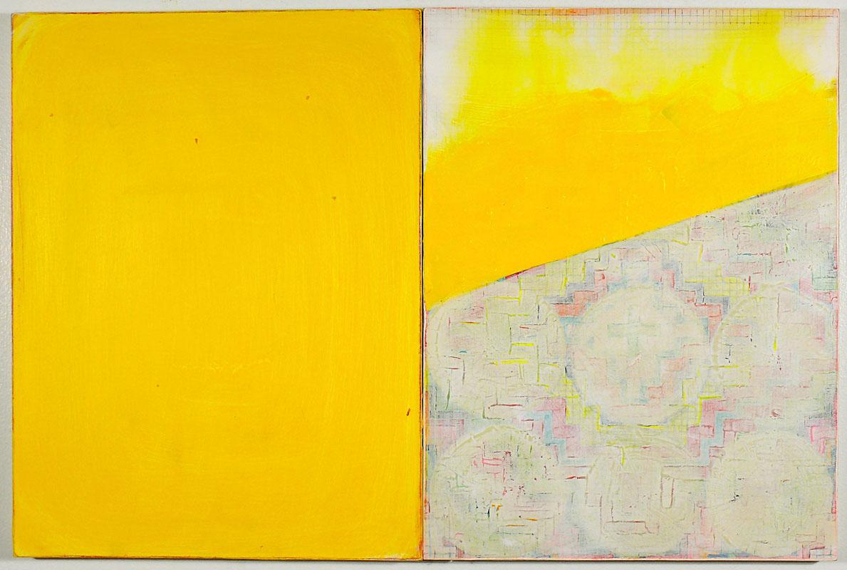 "NY11#11, 16"" X 24"" - 2 pieces, mixed media on panel, 2011 SOLD"